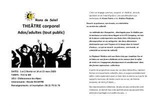 stage de théâtre corporel avec Nicole Escaffre @ Châteauroux les Alpes
