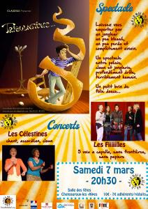 Spectacle et concerts Claudius/Les Fiiiiiilles/Les Célestines @ Châteauroux Les Alpes