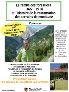 Conférence Hervé Gasdon @ maison du parc Châteauroux-les-Alpes