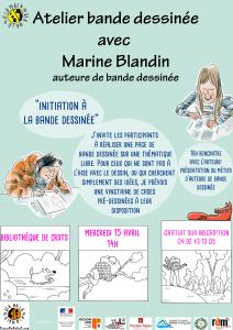 Rencontre et atelier d'initiation bande dessinée avec Marine Blandin @ Crots
