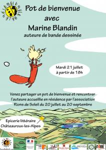 Pot accueil Marine Blandin @ épicerie littéraire