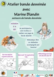 Initiation à la bande dessinée avec Marine Blandin @ Gap