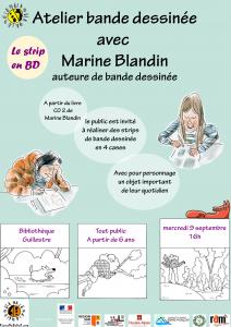 Le strip en BD / Atelier bande dessinée avec Marine Blandin @ Guillestre