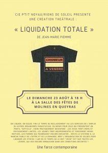 Liquidation totale - théâtre @ Salle des fêtes de Molines en Queyras