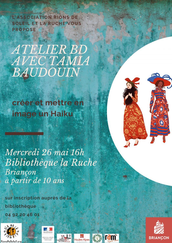 Créer et dessiner son haiku avec Tamia Baudouin @ Briançon