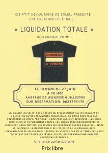 Création Théâtrale- Liquidation totale -de Jean Marie Piemme @ Guillestre