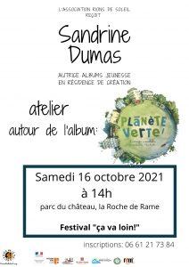 """Atelier parent enfant """"Planète verte!;les énergies renouvelables"""" avec Sandrine Dumas @ La Roche de Rame"""